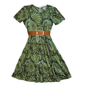 LuLaRoe Amelia Floral Dress Pleated Pockets